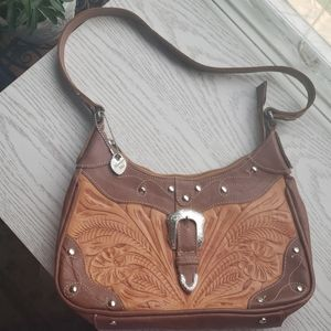 American West | hand tooled hand bag